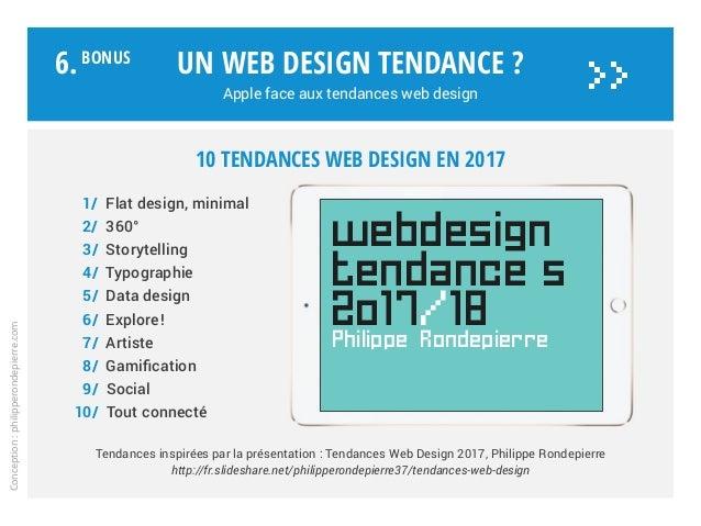 Un web design tendance ? Apple face aux tendances web design Tendances inspirées par la présentation : Tendances Web Desig...