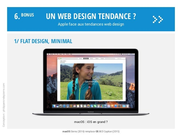 1/ FLAT DESIGN, minimal macOS : iOS en grand ? Un web design tendance ? Apple face aux tendances web design Conception:phi...