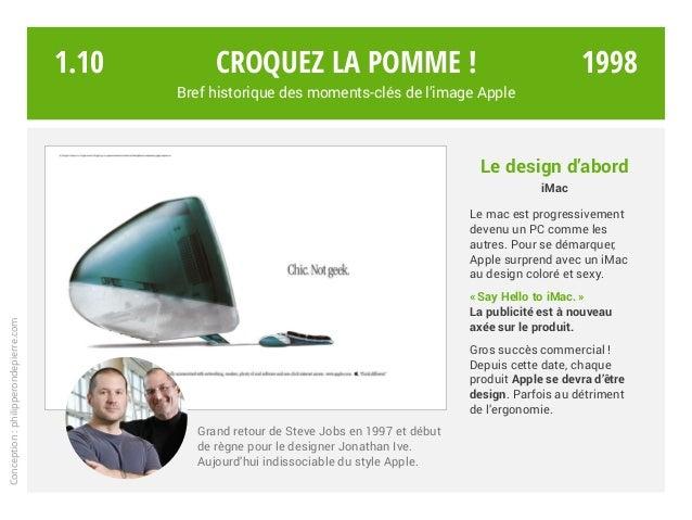 Grand retour de Steve Jobs en 1997 et début de règne pour le designer Jonathan Ive. Aujourd'hui indissociable du style App...