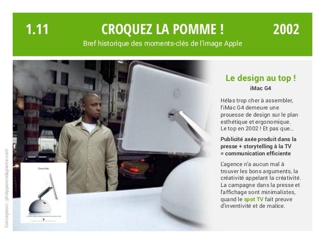 Croquez la pomme ! Bref historique des moments-clés de l'image Apple Conception:philipperondepierre.com Le design au top !...