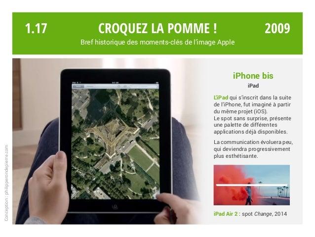 iPhone bis iPad L'iPad qui s'inscrit dans la suite de l'iPhone, fut imaginé à partir du même projet (iOS). Le spot sans su...