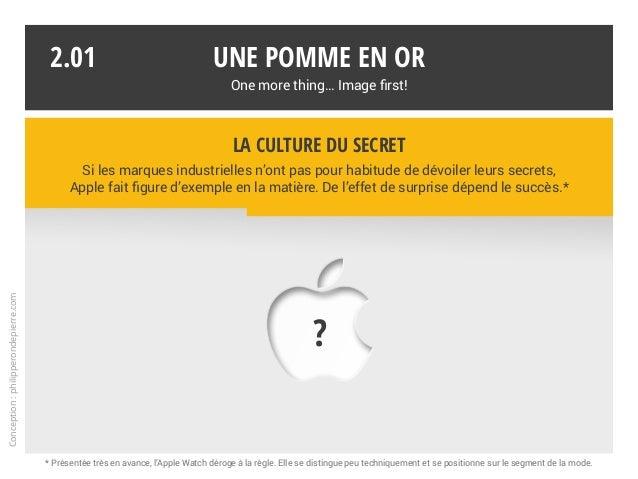 Une pomme en or One more thing… Image first! 2.01 * Présentée très en avance, l'Apple Watch déroge à la règle. Elle se dis...