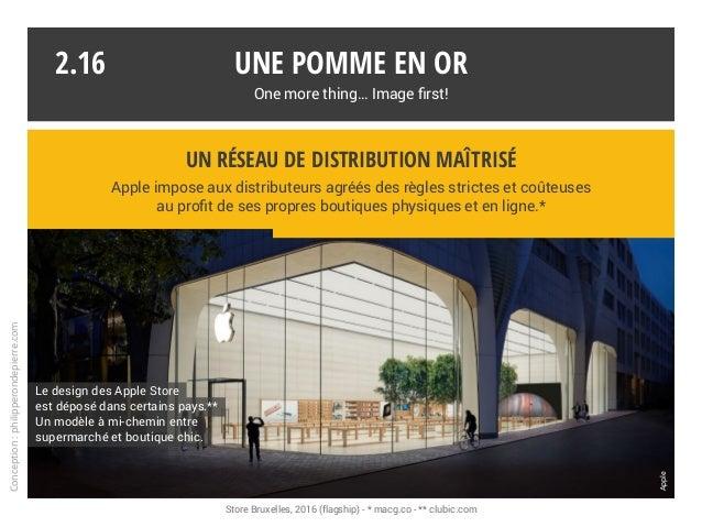 Une pomme en or One more thing… Image first! Apple impose aux distributeurs agréés des règles strictes et coûteuses au pro...