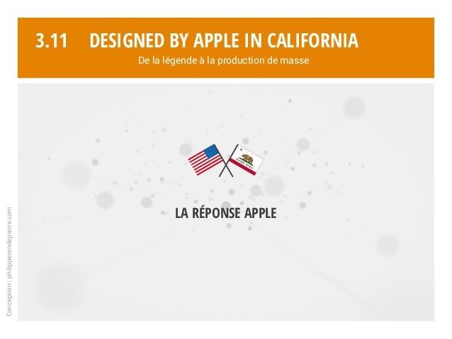 Conception:philipperondepierre.com 3.11 La réponse Apple Designed by Apple in California De la légende à la production de ...