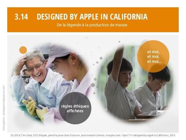 Conception:philipperondepierre.com 3.14 En 2014, Tim Cook, CEO d'Apple, prend la pose chez Foxconn, sous-traitant chinois....