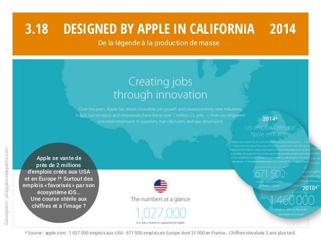 Conception:philipperondepierre.com 3.18 Apple se vante de près de 2 millions d'emplois créés aux USA et en Europe !* Surto...