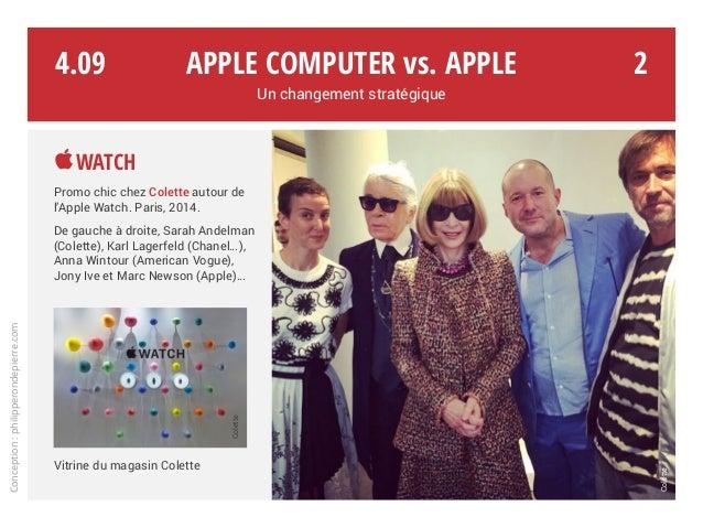 Apple Computer vs. Apple Un changement stratégique Conception:philipperondepierre.com 4.09 Watch Promo chic chez Colette ...