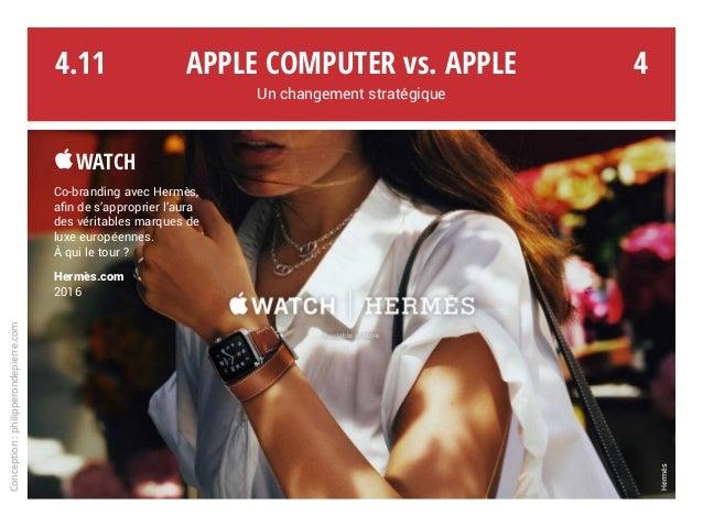 Apple Computer vs. Apple Un changement stratégique Conception:philipperondepierre.com 4.11 Hermès 4 Watch Co-branding ave...
