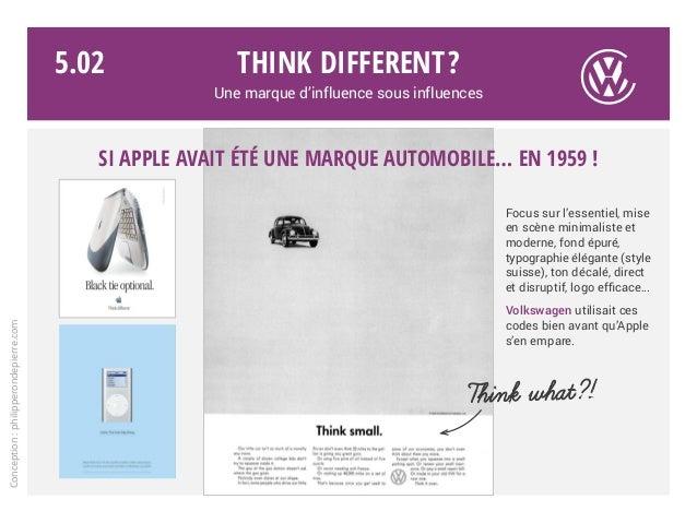 Think different? Une marque d'influence sous influences Focus sur l'essentiel, mise en scène minimaliste et moderne, fond ...