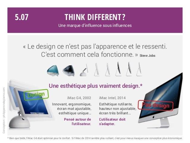 «Le design ce n'est pas l'apparence et le ressenti. C'est comment cela fonctionne.» Steve Jobs iMac G4, 2002 Innovant, e...