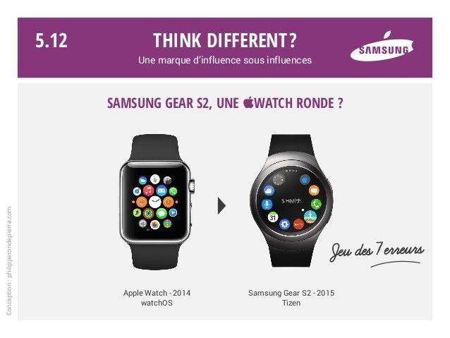 Think different? Une marque d'influence sous influences Jeu des 7erreurs Samsung Gear S2, une Watch ronde ? Conception:ph...