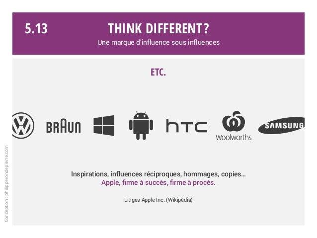 Think different? Une marque d'influence sous influences Etc. Inspirations, influences réciproques, hommages, copies… Apple...