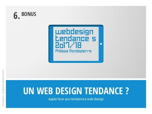 Un web design tendance ? Apple face aux tendances web design 6.Bonus Conception:philipperondepierre.com webdesign tendance...
