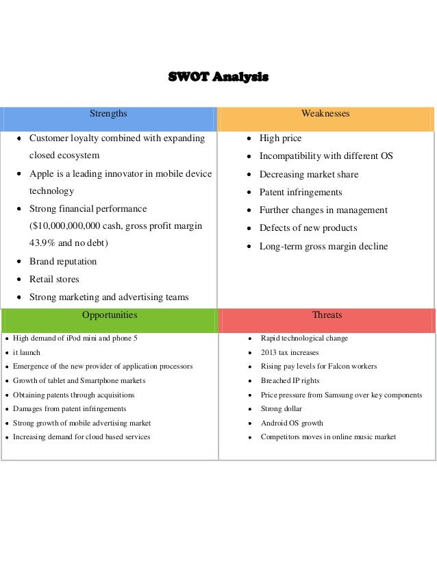 apple swot analysis 2018 pdf