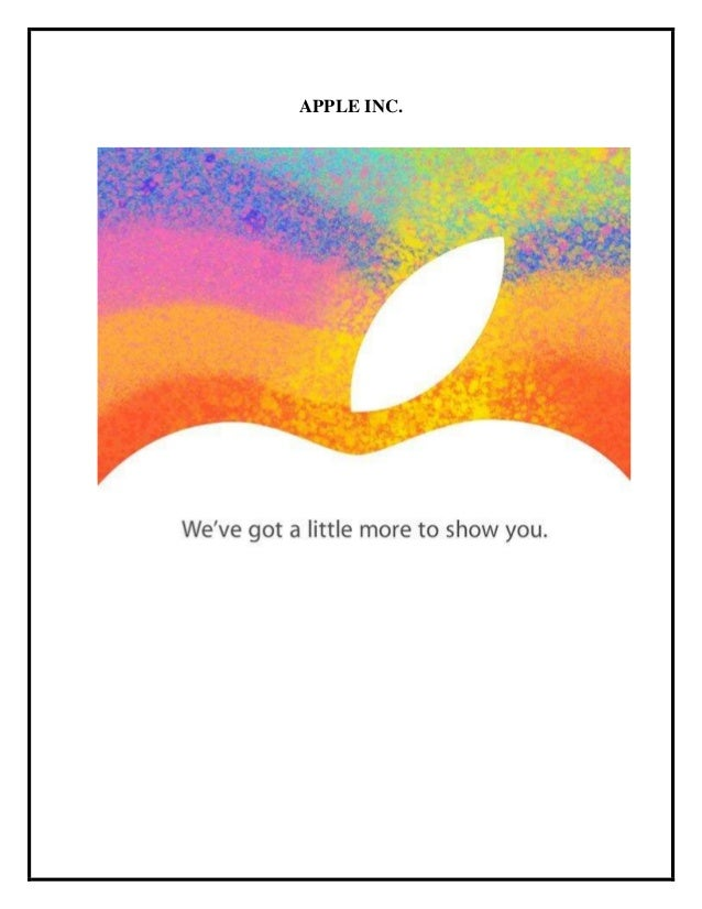 apple inc operational management case study Case study on apple's business strategies apple must continue its appropriate management of innovation dilemmas and maintain the in the case of apple.