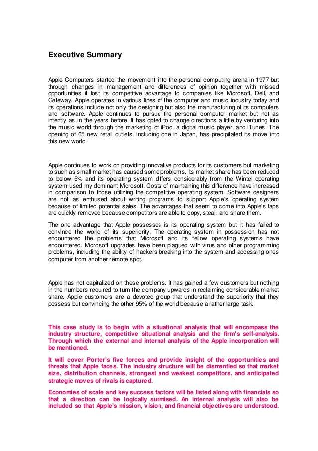 apple inc summary essay