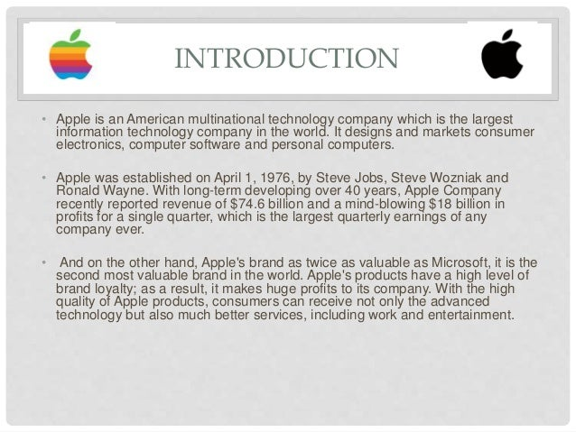introduction of apple company