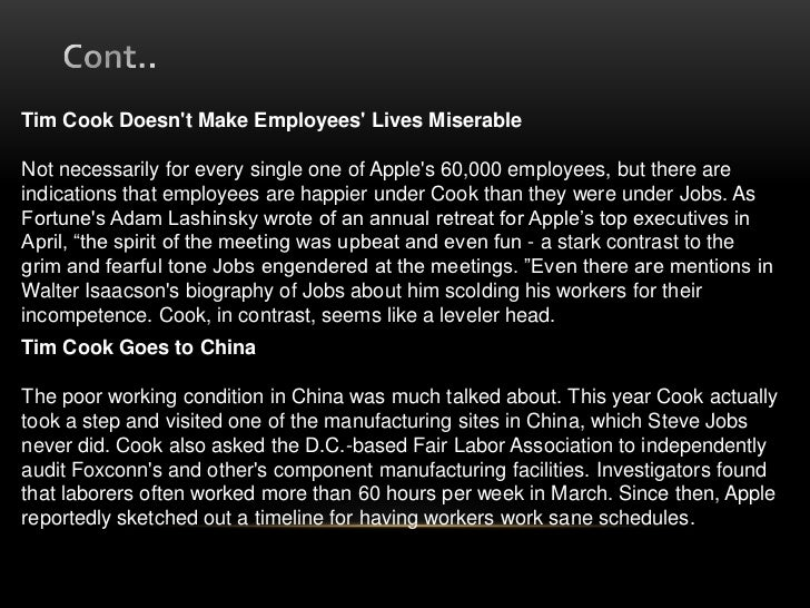 foxconns labor condition -abc news is owned by the disney corporation and disney ceo bob iger serves on the apple addresses working conditions in its supplier's foxconn, apple and the fair labor association submitted responses to abc news after nightline anchor bill weir's exclusive report on apple's.