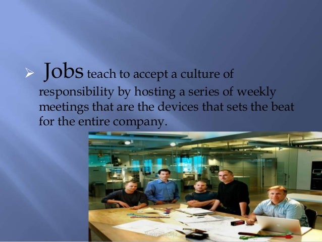 the organization culture of apple company Image via apple inc one of the big advantages of being an entrepreneur and starting your company from scratch is that you get to set the culture, which is much easier than changing the culture of .