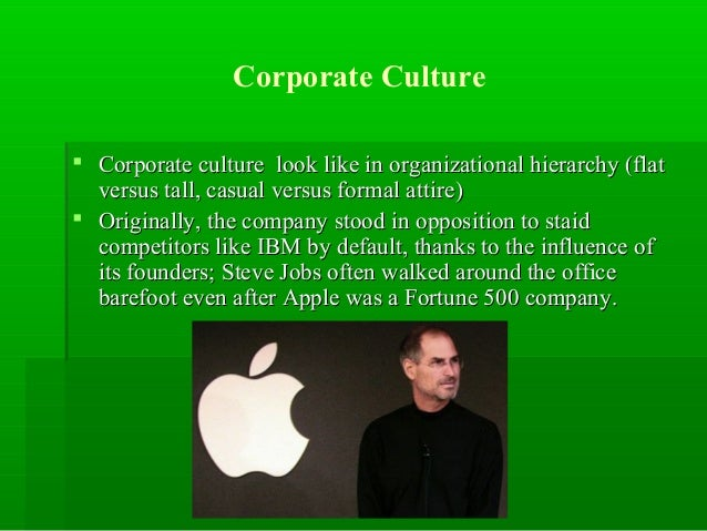 organisational culture of apple