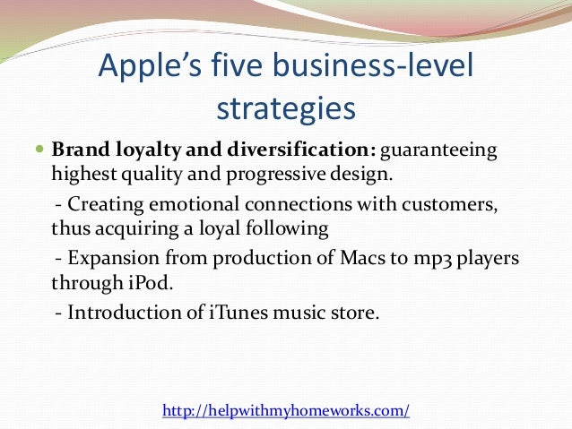 Corporate Level Strategy of Apple