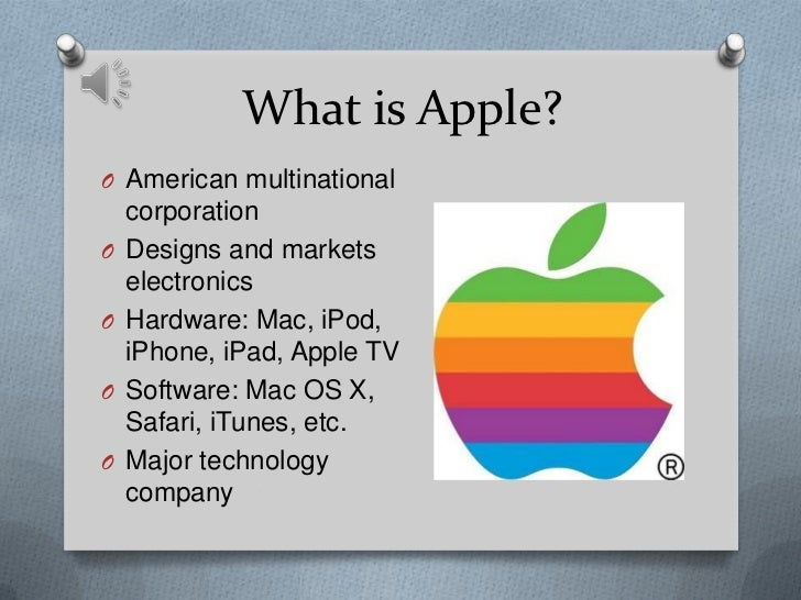 """multinational apple Wikipedia describes apple as """"an american multinational technology company headquartered in cupertino, california, that designs, develops, and sells consumer electronics, computer software."""