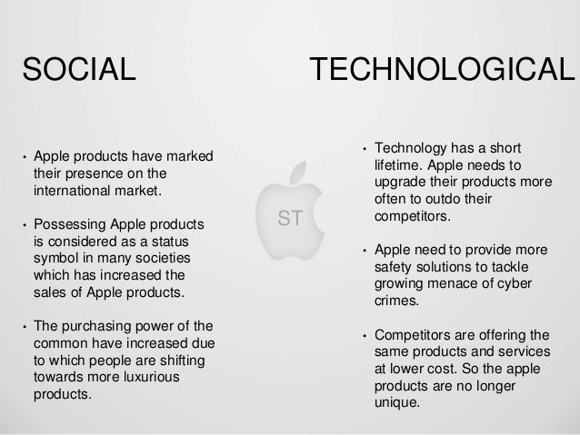 apple inc and the macro environment View apple case study from acc 252 at syracuse what are the macro environmental factors influencing apple like any other major company, apple corporation has many outside forces that.