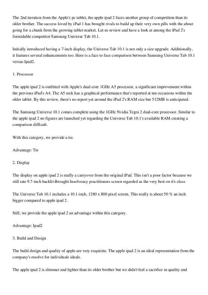 The 2nd iteration from the Apples pc tablet, the apple ipad 2 faces another group of competition than itsolder brother. Th...