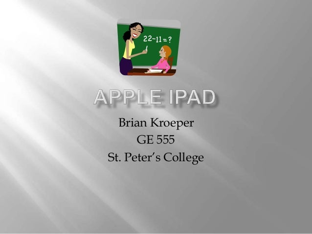 Brian Kroeper GE 555 St. Peter's College