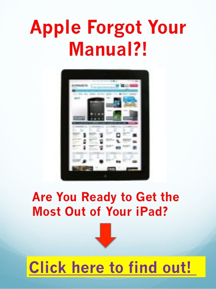 Apple Ipad User Guide Manual
