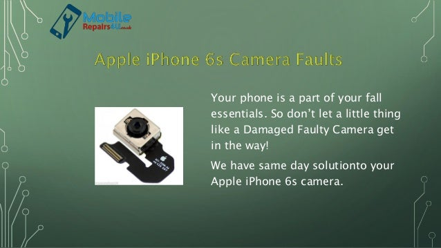 Your phone is a part of your fall essentials. So don't let a little thing like a Damaged Faulty Camera get in the way! We ...