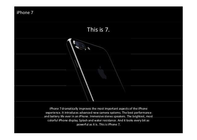 Introducing Apple iPhone 7 Slide 3