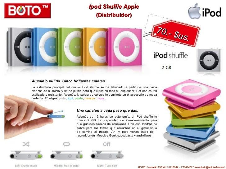 Ipod Shuffle Apple                                            (Distribuidor)                                              ...
