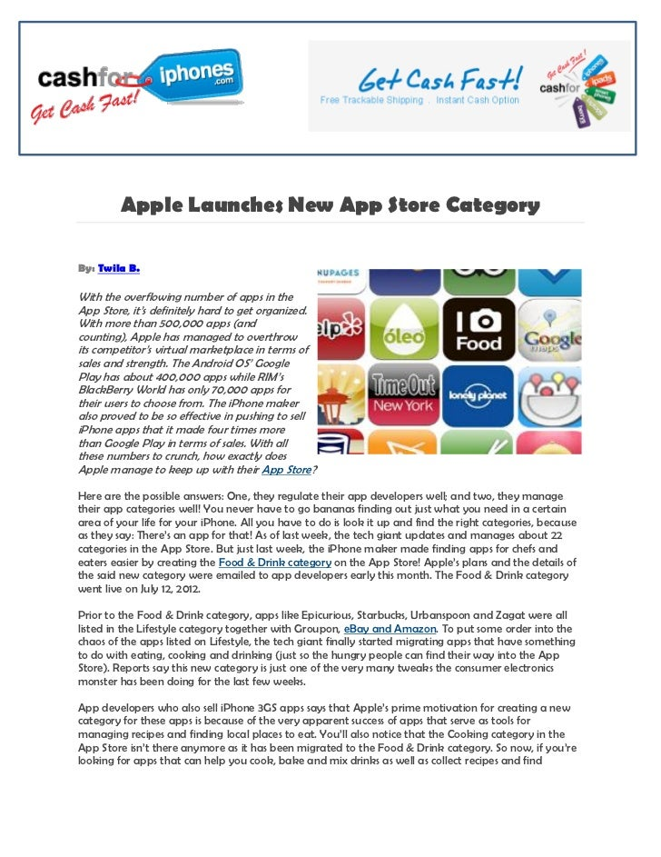 Apple Launches New App Store CategoryBy: Twila B.With the overflowing number of apps in theApp Store, it's definitely hard...