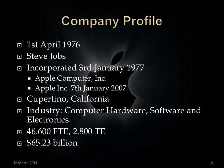 apple inc company profile