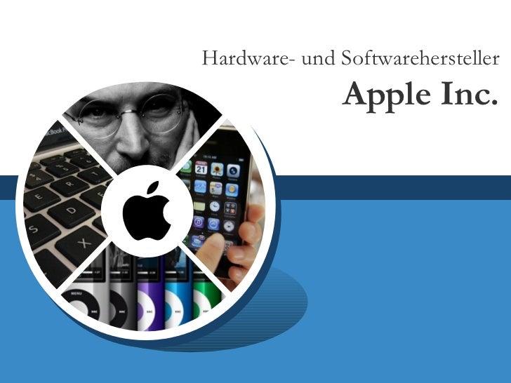 Hardware- und Softwarehersteller Apple Inc.