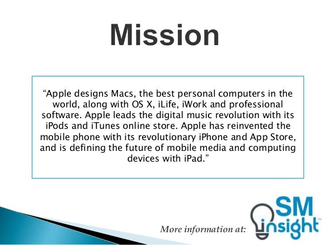 Apple Mission and Vision Statements: An analysis