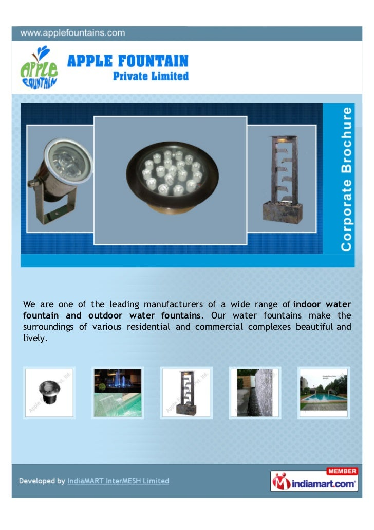 We are one of the leading manufacturers of a wide range of indoor waterfountain and outdoor water fountains. Our water fou...