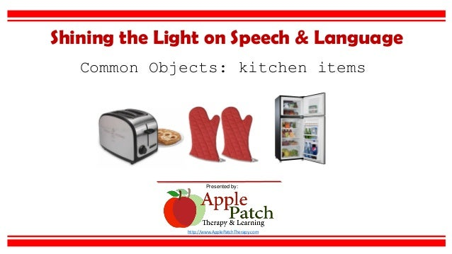 common objects kitchen items