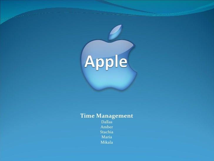 Time Management Dallas Amber Stachia Maria Mikala