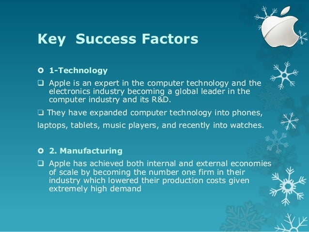 key success factors of apple ipod Considering that apple is now the leader on the key success factors are establishing the effective distribution channels and providing after sales services.