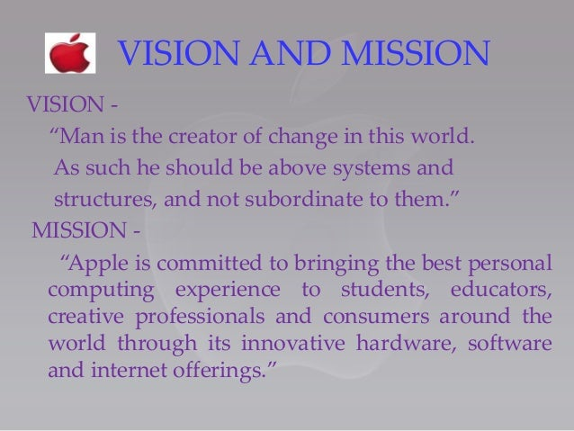 apple vision and mission statement
