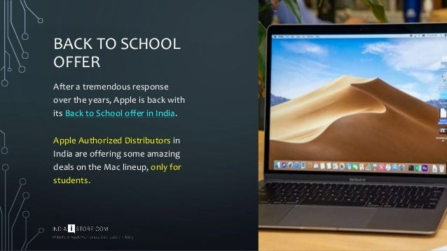 Apple's Back to School Offer in India - Student Discount on Mac