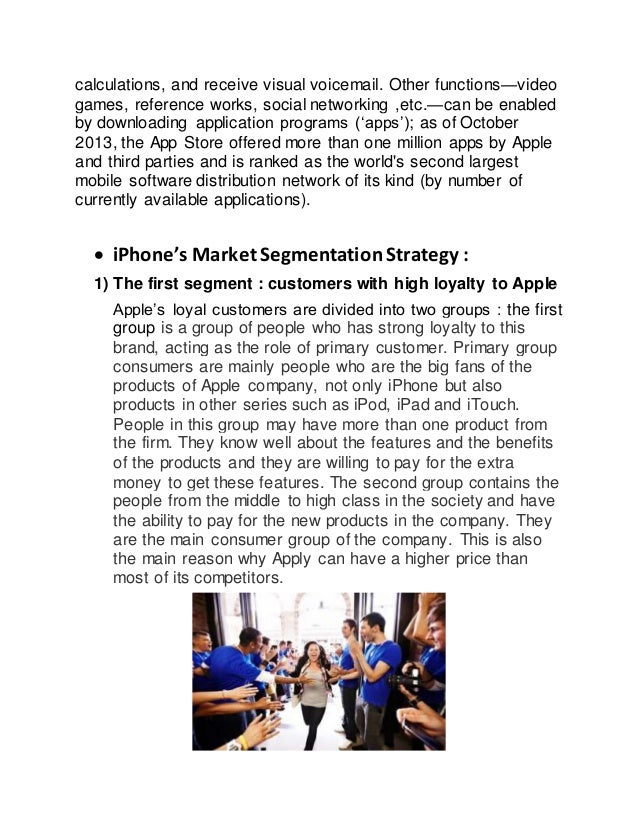 apple s iphone market segmentation