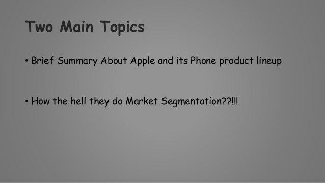 iphone market segmentation