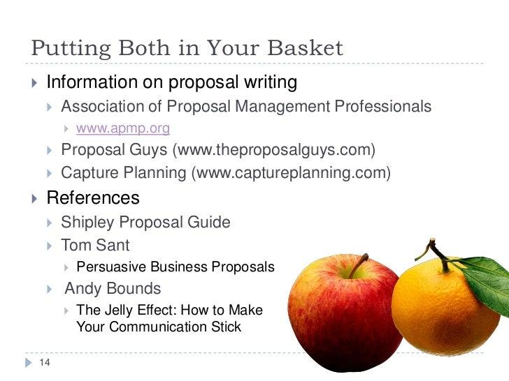 Persuasive business proposals tom sant