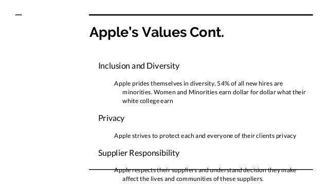 apple corporate culture values
