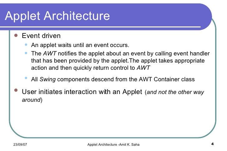 Java applets.