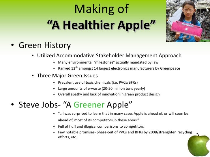 marketing management apple electronics and environmental Apple incorporated financial and business news, updates, and information from the new york times and other leading providers.