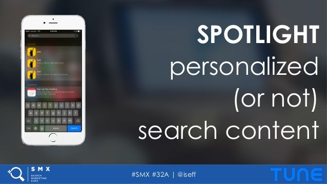 #SMX #32A | @iseff SPOTLIGHT personalized (or not) search content